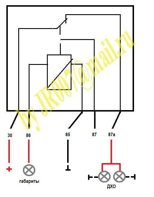Ходовые огни на авто схема подключения от датчика масла 107