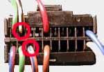 Разъем для подключения иммобилизатора - вид со стороны проводов