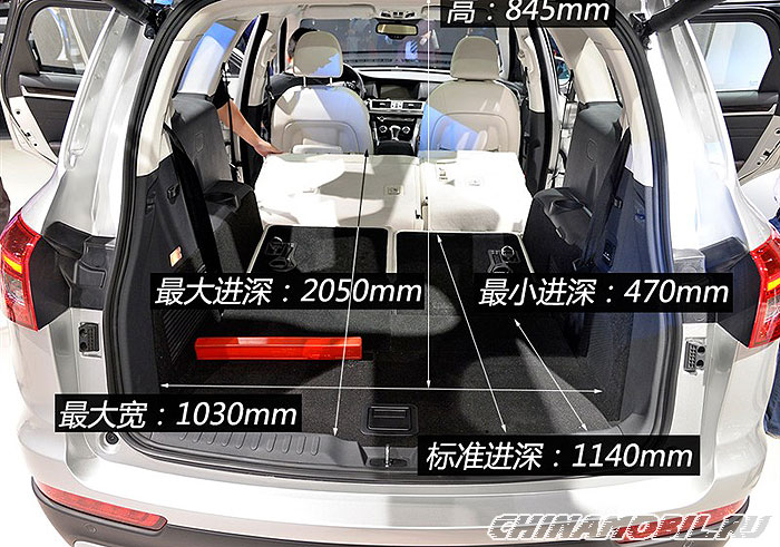 Haval H7: Trunk size
