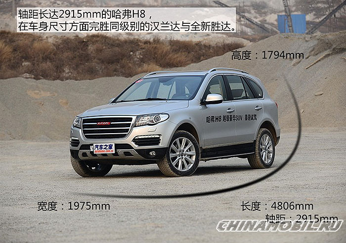 Great Wall Haval H8: Body size
