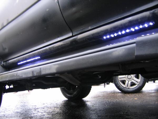 Подсветка порогов автомобиля своими руками